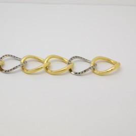 Braçalet or blanc i or groc